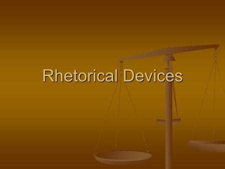 Rhetorical analysis literary terms